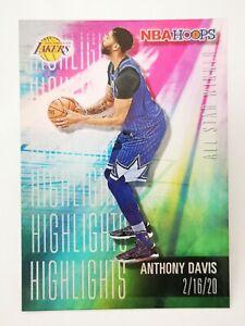 Panini Hoops 2020-21 N20 NBA Highlights #1 Anthony Davis Los Angeles Lakers