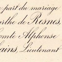 Marthe Girod De Resnes D'Aubignac De Ribains Paris 1887