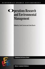 Operations Research and Environmental Management 5 (2011, Paperback)