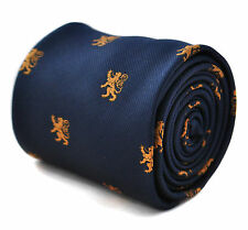 Frederick Thomas Navy Blue Mens Tie & Gold Scottish Lion FT1789
