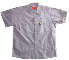 Lowrider Logo Tag Grey Button Down Work Shirt 2XL New Official Merch