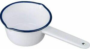 Falcon Enamel Milk Pan 14cm Saucepan White