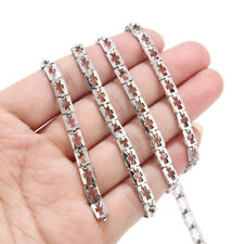 2meters Silver Tone Stainless Steel Cross Chain Square Connect Chain Findings