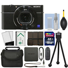 Sony Cyber-shot DSC-RX100 IV M4 20.1MP Digital Camera 4K Video Black + 16GB Kit
