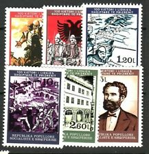 ALBANIA Sc 1853-9 NH SET+S/S OF 1978 - HISTORICAL EVENTS