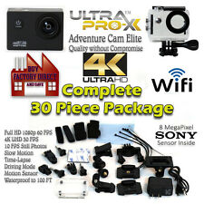 UltraProX 4K UHD Sport Action Camera Elite HD Waterproof WiFi w/free GoPro Acc