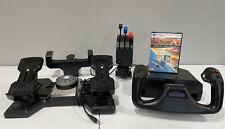 Logitech Saitek Pro Flight Yoke System w/ Throttle, Rudder Pedals & Flight Sim X