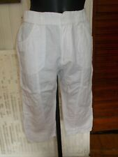 Pantalon court pantacourt coton taille elastique BLANC DU NIL T.1 36/38 19PE13