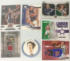 STEVE NASH GAME-USED JERSEY CARD LOT OF 7 SUNS, LAKERS