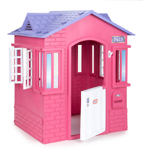 Little Tikes Cape Cottage House, Pink - Pretend Playhouse with Working Doors, Wi