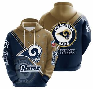 Los Angeles RAMS Hoodies Mens Casual Sweatshirt Fans Football Pullover Jacket
