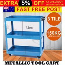 Heavy Duty Tool Cart 3 Tier Mechanic Trolley Handyman 150KG Warehouse Industrial