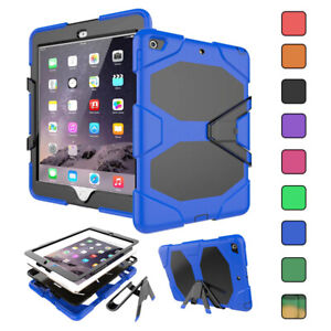 Heavy Duty Hard Kickstand Case Rugged Cover with Screen Protector For Apple iPad