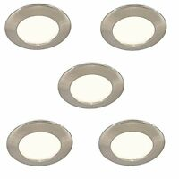 5 LED MAINS RECESSED LIGHT KITCHEN UNDER CABINET CUPBOARD WARM WHITE 30000 HOUR