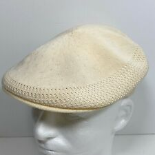 Vintage Kangol Ventair Cap 504 Flat Cap Hat Adult Size M Off White Cream England
