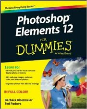 Photoshop Elements 12 For Dummies New Paperback Book Barbara Obermeier
