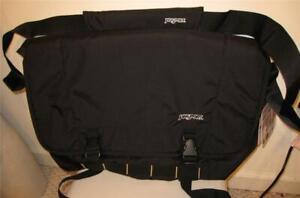 NEW JANSPORT Black Messenger Bag Laptop Notebook Sleeve NWT