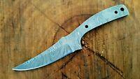 Beautiful Handmade Damascus Steel Blank Blade Skinner Knife Making Supply (111)