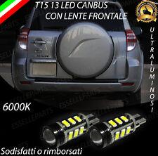 LAMPADE RETROMARCIA 13 LED T15 W16W CANBUS PER TOYOTA RAV 4 III 6000K NO ERROR