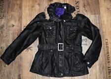 ♥ coole Jacke / Parka ♥ Gr. 134 ♥ schwarz ♥ C&A ♥ trendy Look ♥