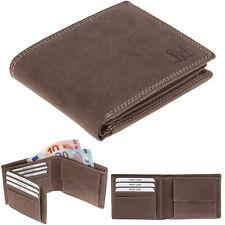 Ledergeldbörse Herren Leder Hunter Geldbeutel Echtleder Elephant purse 252 Braun
