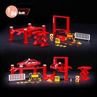 Racing Car Maintenance Workshop Scene Model Set 1:64 Scale Repair Shop Tool Roll