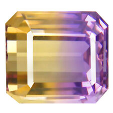9.08 ct Octagon (12 x 11 mm) Unheated / Untreated Purple and Yellow Ametrine