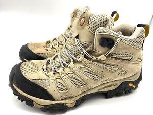 Merrell Women's Boots Moab Ventilator Mid Taupe Vibram J86592 Size 8*