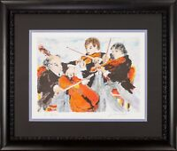 Three Musicians by Urbain Huchet Artist's Proof 37/50 Framed and Matted