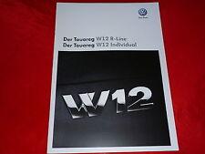 VW Touareg W12 R-Line + W12 Individual Prospekt von 11/2008