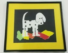 FIREHOUSE DALMATIAN Torn Paper Art by Vaunceil Smith 16 x14¹/²  PRIMARY COLORS