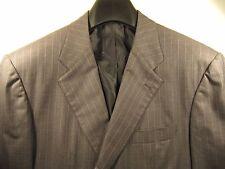 Kiton Mens Medium Grey Pinstripe Suit Jacket Coat 50R Made in Italy