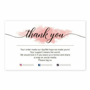 30Pcs Thank You For Supporting My Small Business Cards Store White DIY Cards