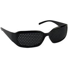 Black Eyesight Improvement Vision Care Exercise Eyewear Pinhole Glasses Training