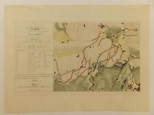 Carte, Plan du siège de Rome, tranchées et batteries, eau-forte, vélin, Pulini