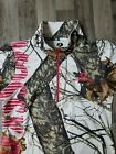 MOSSY OAK WOMENS 1/4 ZIP PULLOVER SIZE L WHITE SNOW CAMOUFLAGE