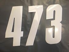 """6"""" MOTOCROSS ENDURO BMX NUMÉRO COURSE X6 BLANC 0-9 TOUS LES NUMÉROS VOTRE CHOIX"""