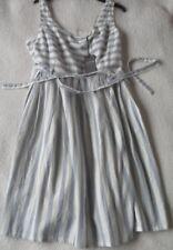 EX Fat Face Kirstie Stripe Print Cotton Mid Length Fit N' Flare Sun Dress 8 18 18