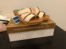 Italian Shoemakers Wedge Sandals, Size 8.0 Color- Natural