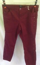 "AUTOGRAPH PURPLE BERRY STRETCH ""STUD DOWN LEG"" JEANS-SIZE 22-NWT RRP$79.99 NEW"
