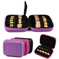 10 Roller Bottles Essential Oil Case Box Carry Holder Storage Aromatherapy Bag