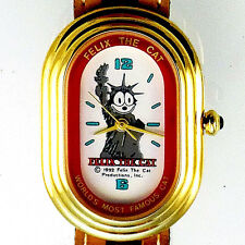 Felix The Liberty Cat Watch, Rare Oblong Gold Case, Worlds Most Famous Cat! $159