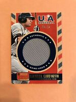 MICHAEL CONFORTO  2014 PANINI USA  GAME USED JERSEY ROOKIE CARD  #8/25