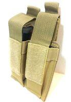 T-Gear Double Pistol Magazine Pouch MOLLE Tactical Duty Gear Hunting COYO TAN