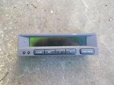 SAAB 95 9-5 MODELS 1998 - 2005 BROWN FASCIA SID LCD CLOCK & RADIO DISPLAY UNIT