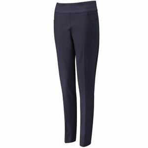 Ping Ladies Ada Golf Pull On Golf Trousers Slim Fitting Navy Blue Size 16