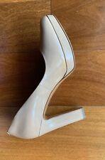 Via Spiga Nude Leather Heel Pump Platform Shoes Size 7