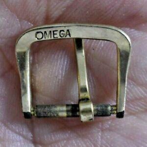 Vintage Omega Gold Tone Wrist Watch Band Buckle 13mm Inside lot.z