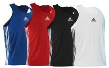 Adidas Boxing Vest Fight Training Top Pro Amateur Kids Mens Black Red Blue White