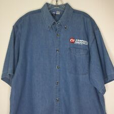 Port and Company Vintage XL Blue Denim Men Shirt Campbell Hausfeld Built to Last